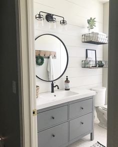 Home Interior Pictures Farmhouse Style Bathroom Makeover.Home Interior Pictures Farmhouse Style Bathroom Makeover Guest Bathrooms, Bathroom Renos, Bathroom Renovations, Modern Bathroom, Bathroom Ideas, Bathroom Organization, Bathroom Fixtures, Bathroom Designs, Brown Bathroom