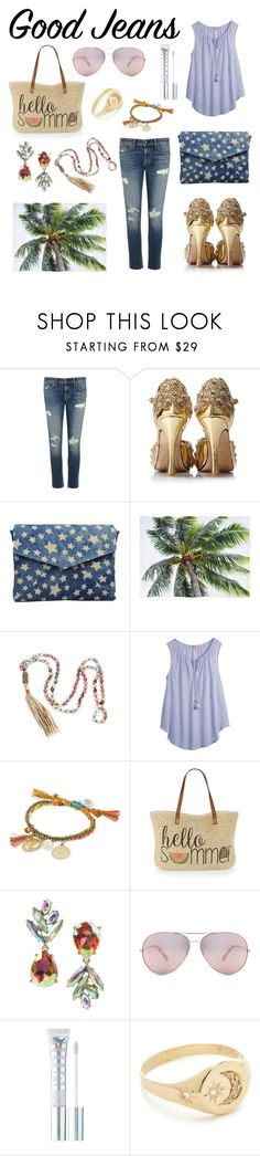 """""""The Perfection of all Things Summer"""" by walkingblind ❤ liked on Polyvore featuring rag & bone/JEAN, Bungalow 20, Calypso St. Barth, Venessa Arizaga, Straw Studios, Betsey Johnson, Oliver Peoples, MILK MAKEUP and Jacquie Aiche"""