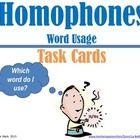 This homophone and word usage task card resource includes 32 cards, charts with words and definitions, a recording sheet, and an answer key. Each p...