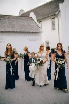 Navy Bridesmaid Gowns // Intimate & Romantic Rosemary Beach Wedding via TheELD.com Wishes For The Bride, Father Of The Bride, Navy Bridesmaid Gowns, Wedding Planner, Destination Wedding, Family Beach Portraits, Rosemary Beach, Beach Ceremony, Wedding Day Inspiration