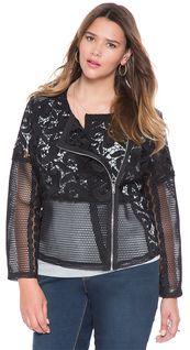 Plus Size Lace Jacket