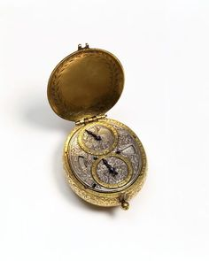 Pocket watch made for the Ottoman Empire market. Case by Jean Pattru, watchmaker c.1670 Dial and movement with Arabic inscriptions. V & A Museum