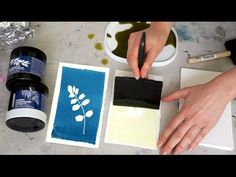 Cyanotype workshop! Beautiful floral blue prints. - YouTube