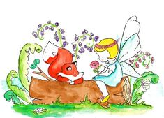 Fairyland Friends 8x10 Archival Prints by ohhellodear on Etsy, $20.00