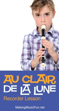 Learn to play Au Clair de la Lune on the recorder with this FREE beginner lesson from the MakingMusicFun Music Academy. #makingmusicfun Popular Kids Songs, Fun Songs For Kids, Music Lessons For Kids, Music Lesson Plans, Kids Songs With Actions, General Music Classroom, Bible Songs, Nursery Rhymes Songs, Elementary Music