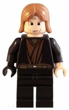 """Anakin Skywalker (Ep. 3, Black Right Hand) - LEGO Star Wars 2"""" Figure by LEGO. $16.99. darth maul. Star wars, darth vader. The LEGO Anakin Skywalker mini figure is highly sought after by collectors for use in building Star Wars legos. It is from an original Star Wars lego set 7256 Jedi Starfighter and Vulture Droid. It comes with a black hand and his original transblue lightsaber in Jedi outfit."""