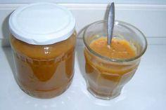 Broskvová přesnídávka recept Preserves, Pickles, Smoothie, Food And Drink, Pudding, Drinks, Desserts, Med, Drinking