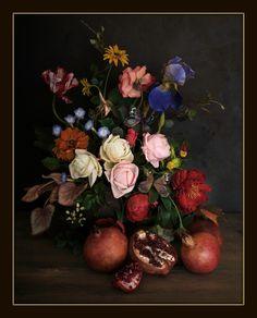 #cold porcelain#handmade#flemishpainting#Italyartist Cold Porcelain Flowers, Still Life, Colours, Vogue, Handmade, Painting, Archive, Nice, Art