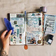 week 38。being normal is boring. #travelersnotebook #chamilgarden #scrapbooking #artjournal #washitape #instax #midoritravelersnotebook #travelersfactory