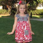 University of Alabama Savannah Collegiate Houndstooth Black/Red Dress, roll ride, bama, football