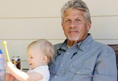 James Blaesing, seen here in 2013 with his grandson, Mason Simon, is the grandson of President Warren G. Harding, according to recent DNA tests.