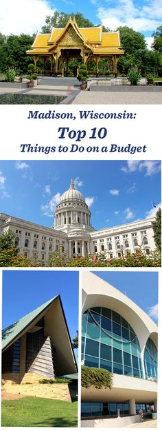 10 great things to do on a budget in Madison, Wisconsin Wisconsin Vacation, Wisconsin Dells, Madison Wisconsin, Milwaukee Wisconsin, Nashville Tennessee, Places To Travel, Places To See, Travel Things, Of Montreal