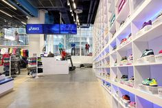 Inside the Mapos-designed Asics store in New York. #interiordesign #interiordesignmagazine #design #projects #retail