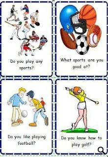 Flashcards: Sports - My English Printable Worksheets