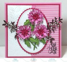 Hi everyone, As promised yesterday, the Design Team is back again today to share their creations using the new Susan's Garden products released last week on the Elizabeth Craft Designs web si… Elizabeth Craft Designs, Thanks Card, Birthday Cards For Women, Cricut Cards, Shaker Cards, Garden Crafts, How To Make Paper, Vintage Roses, Design Crafts