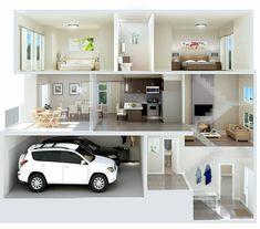 23 Clever DIY Christmas Decoration Ideas By Crafty Panda Apartment Plans, Apartment Design, Dream House Plans, House Floor Plans, Sims House Design, Casas The Sims 4, Archi Design, D House, Home Design Plans