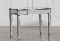 Hayworth Mirrored Vanity Desk - Signature