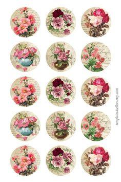 Decoupage Vintage, Decoupage Paper, Vintage Paper, Floral Vintage, Vintage Roses, Foam Crafts, Paper Crafts, Images Victoriennes, Origami Templates