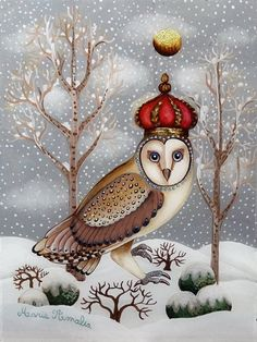 Winter Art, Creations, Fall, Christmas, Painting, Animals, Toile, Naive Art, Artists