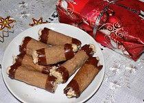 Trubičky s ořechovým krémem Rum, Sausage, French Toast, Meat, Breakfast, Ethnic Recipes, Hampers, Morning Coffee, Sausages