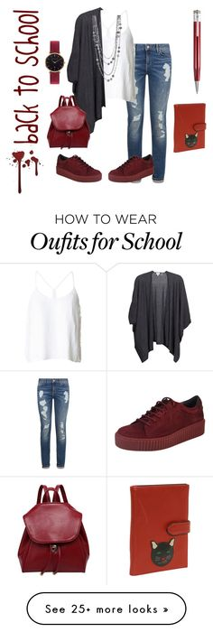 """how to wear it to school"" by aomidak on Polyvore featuring Tommy Hilfiger, TIBI, Kinross, Abbott Lyon and Giuliano Mazzuoli"