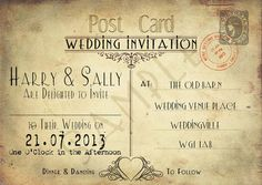 Shabby chic wedding invites