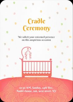 baby naming ceremony invitation Graphic Design Pinterest