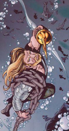 Aquaman by Howard Porter Aquaman Dc Comics, Dc Comics Superheroes, Anime Comics, Geek Movies, Black Manta, Best Superhero, Batman And Superman, Comics Universe, Dc Heroes