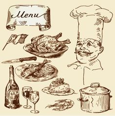 vintage food illustrations - Google Search