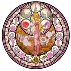 Giselle - Kingdom Hearts Stain Glass by on DeviantArt Disney Pixar, Arte Disney, Disney And Dreamworks, Disney Cartoons, Disney Love, Disney Magic, Disney Concept Art, Disney Fan Art, Disney Stained Glass