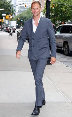 Alexander Skarsgard from The Big Picture: Today's Hot Photos  Hello handsome! The Big Little Lies star looks dapper in a suit on the streets of New York City.