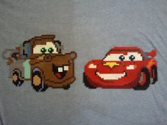 Cars-McQueen and Tow Mater Perler Beads by amaro13 on deviantart