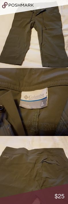 Columbia hiking pant These are a lightweight brushed nylon pant. Water resistant, breathable. Columbia Pants Capris