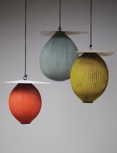 pendants by mathieu matégot. Beautiful