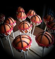 Basketball Cake Pops -  The hoops totally make these! Coming soon :)