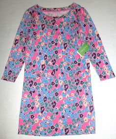 LILLY PULITZER Small CORINE Sunkissed PINK Paws Off Pima Cotton Dress NWT S #LillyPulitzer #Shift #Casual