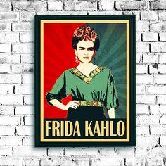 Hey, I found this really awesome Etsy listing at https://www.etsy.com/listing/479162670/frida-kahlo-popart-poster-portrait-obama