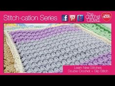 ▶ How to Crochet Double Crochet with Slip Stitches - YouTube