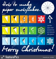 How To Make Paper Snowflakes Template Royalty-Free Stock Illustration