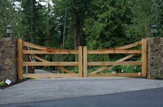 Custom Iron Gates & Driveway Gates in Seattle, WA Driveway Entrance Landscaping, Backyard Gates, Driveway Ideas, Tor Design, Gate Design, Front Gates, Entrance Gates, Iron Gates Driveway, Farm Entrance