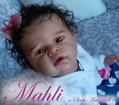 Reborn, baby, newborn, ethnic, doll, girl, OOAK, Angelina, by Romie Strydom