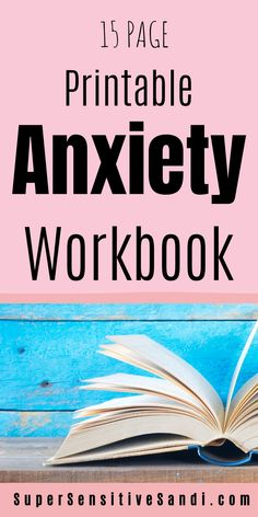 Workbooks are an extremely effective tool for managing anxiety and are great for mental health in general. Get your FREE Printable 15-page Anxiety Workbook PDF including journal prompts, affirmations for anxiety, anxiety worksheets, planners for better time management, and more | SuperSensitiveSandi.com | I have anxiety, overwhelm, anxiety exercise, how to reduce anxiety, lower anxiety, anxiety calmer, how to ease anxiety, anxiety and stress relief, how to relieve stress anxiety, anxiety brain