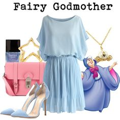 Fairy Godmother by disneyandsuch on Polyvore featuring polyvore fashion style Chicwish Gianvito Rossi Grafea Disney Couture Alex Mika Butter London WhereIsMySuperSuit
