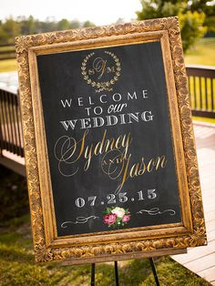 Wedding Welcome Sign Printable Personalized Sign by P27Creative