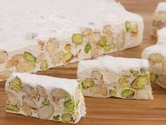 Torrone recipe by Chef Anna Olson. Torrone is a meringue based nougat. Italian Cookies, Italian Desserts, Just Desserts, Italian Recipes, Italian Pastries, Nougat Recipe, Biscotti Recipe, Candy Recipes, Sweet Recipes
