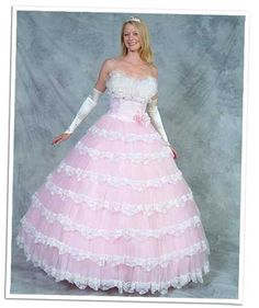 Ugly Wedding Dresses | Ugly Prom Dress of the Day: the toilet-cover doll