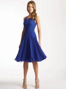 Ramiączkach Linia A Szyfon Sukienki na przyjęcia #USAcd0010