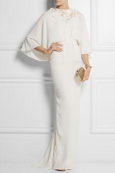 Biyan|Istia embellished crepe gown
