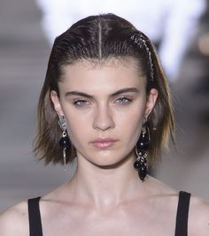 Wet Hairstyle | This Was the #1 Hair Trend From NYFW by Far via @ByrdieBeautyAU