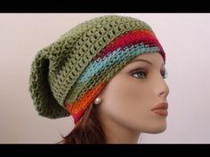 Fruit Salad Crochet Slouchy Beanie  ~Youtube video by CrochetHooksYou~